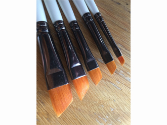 Angled Flats Sets Model Painting Brushes
