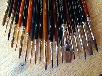 Pack of 20 Wargaming Artists Model Painting Brushes