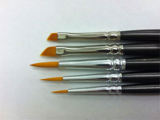 High Quality Set of 5 Synthetic Brushes