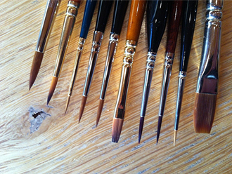 Pack of 10 Fine Quality Model Painting Brushes